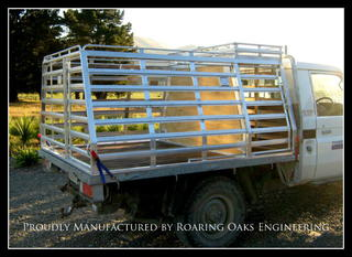 Custom Built Alloy Stock Dog Ute Crates By Roaring