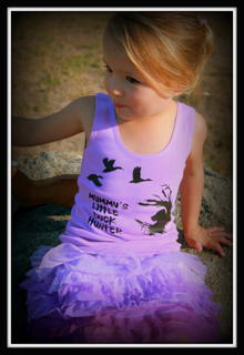 GIRLS LITTLE DUCK HUNTER SHORT SLEEVED TEE, LONG SLEEVED TEE OR SINGLET