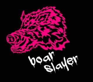 BOAR SLAYER BOARS HEAD GIRLS SINGLET