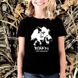 GIRLS BOAR'N TO HUNT TEE, SINGLET OR LONG SLEEVED TEE