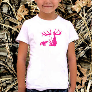 GIRLS ROARING STAG SHORT SLEEVED TEE, LONG SLEEVED TEE OR SINGLET