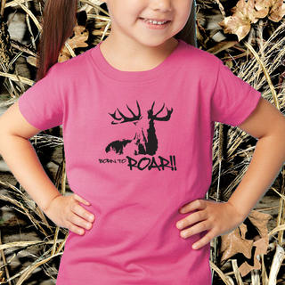 GIRLS BORN TO ROAR SHORT SLEEVED TEE, LONG SLEEVED TEE OR SINGLET
