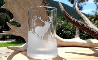 HAND ETCHED BEER MUGS & WINE GLASSES