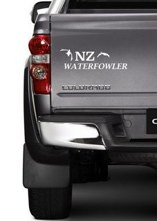 NZ WATERFOWLER VINYL DECALS ~ from $8 ~