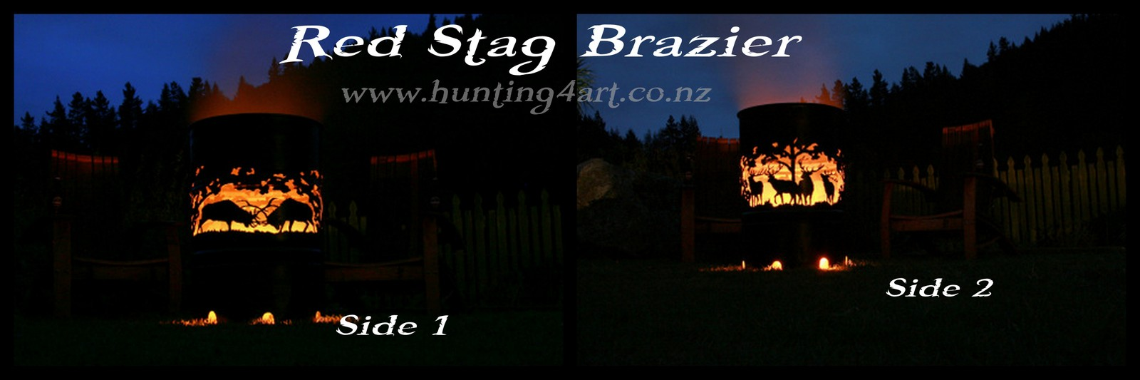RED STAG BRAZIER