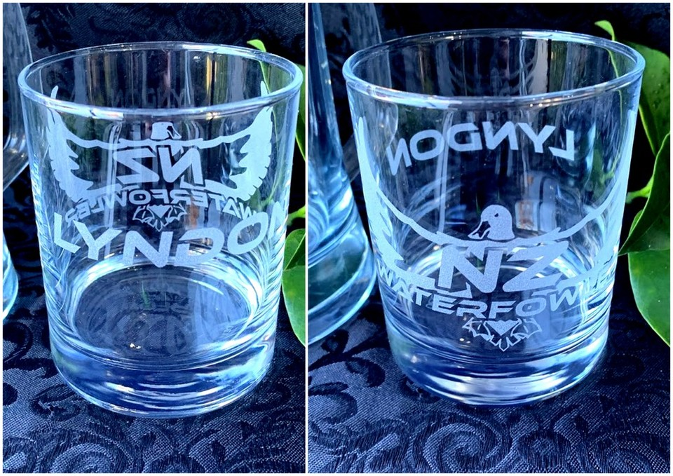 PERSONALISED NZWF HAND ETCHED GLASSWARE